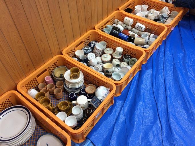 もったいない食器市 食器 浜松市西部清掃工場
