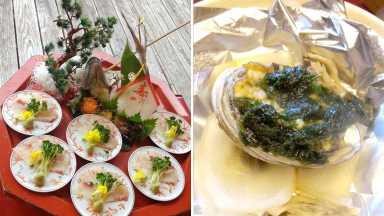 汽水亭 料理 鯛とアワビ