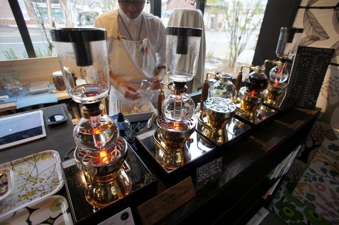 サイフォン式のコーヒーが頂ける