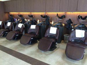 浜松 JUNC 美容室 内観 オートシャンプー台