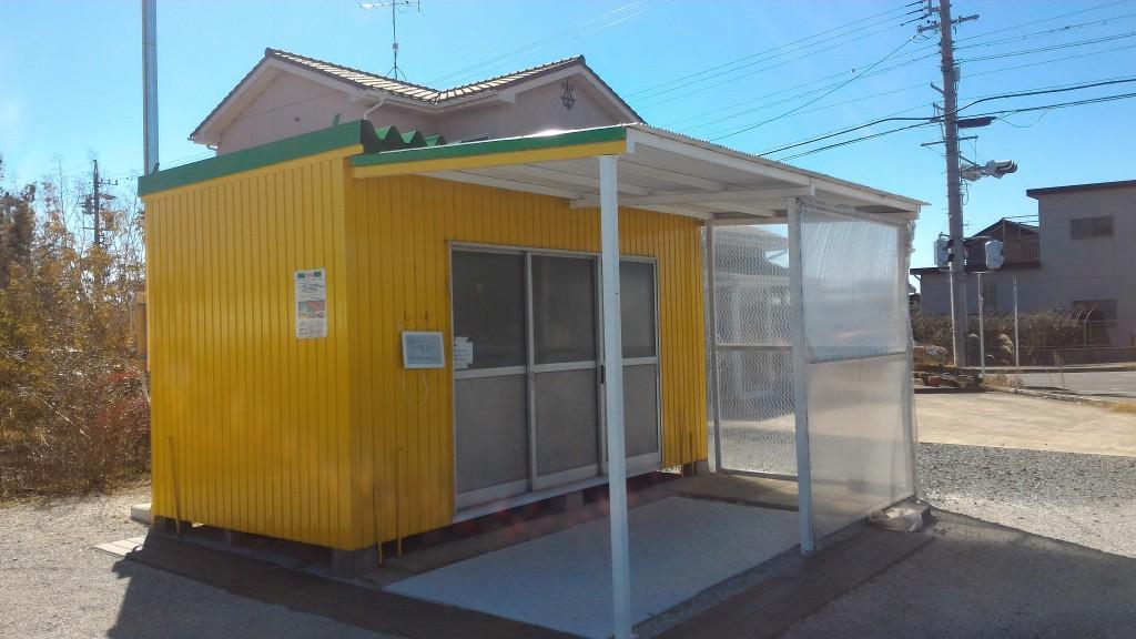 目印の黄色い小屋