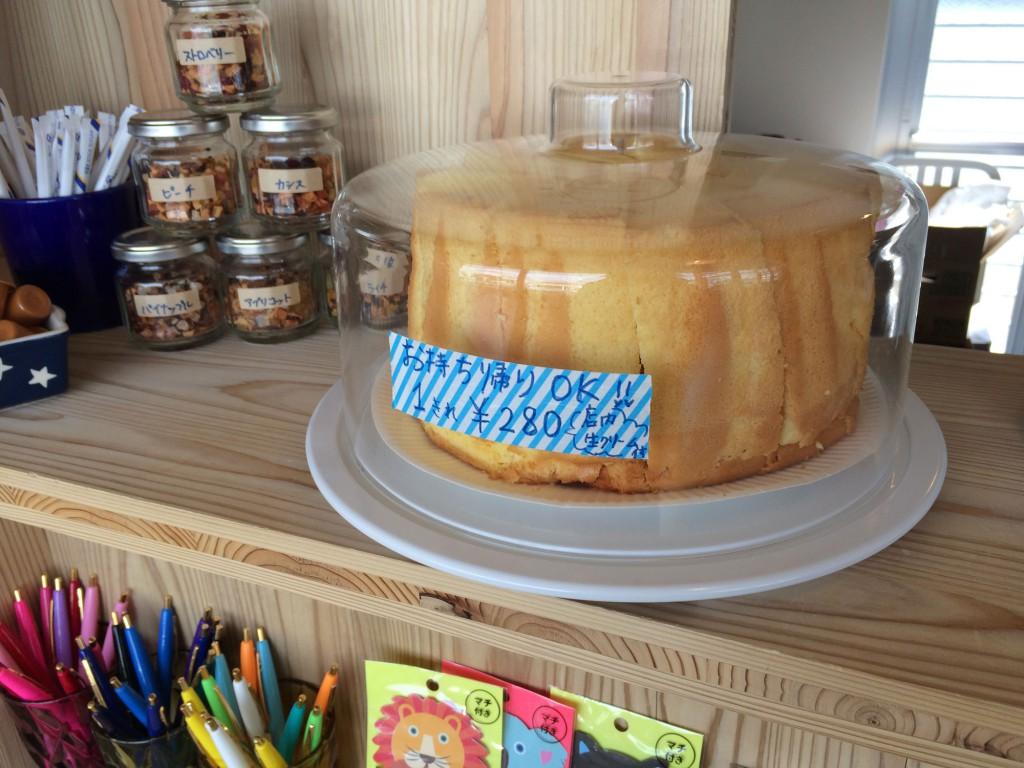 テイクアウトokのケーキ
