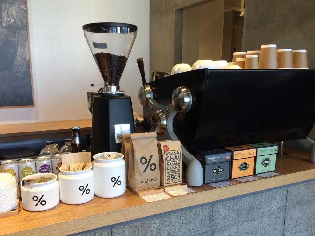 ノースフェイス浜松佐鳴台店、アラビカのコーヒーがいただけます
