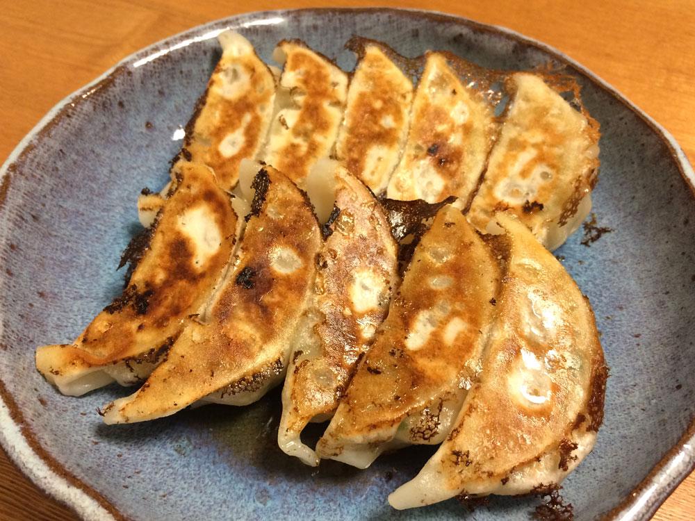 キボリの冷凍餃子、焼き上がりの様子