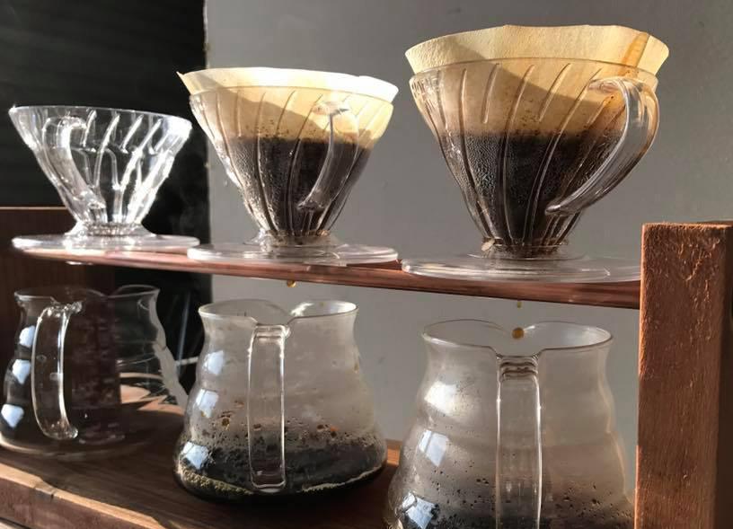 ESORAコーヒーの抽出の様子