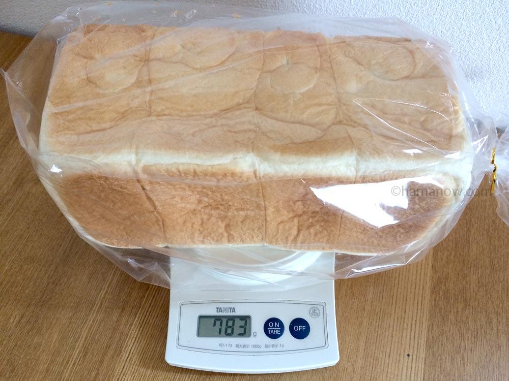 レギュラー食パンの重さ
