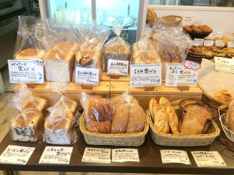 たくさんの種類の食パン