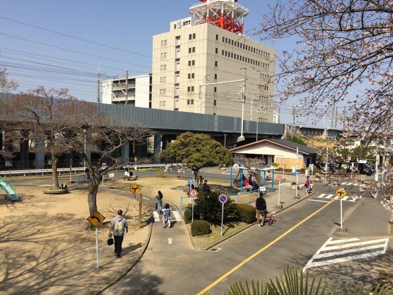 相生公園を上から見る