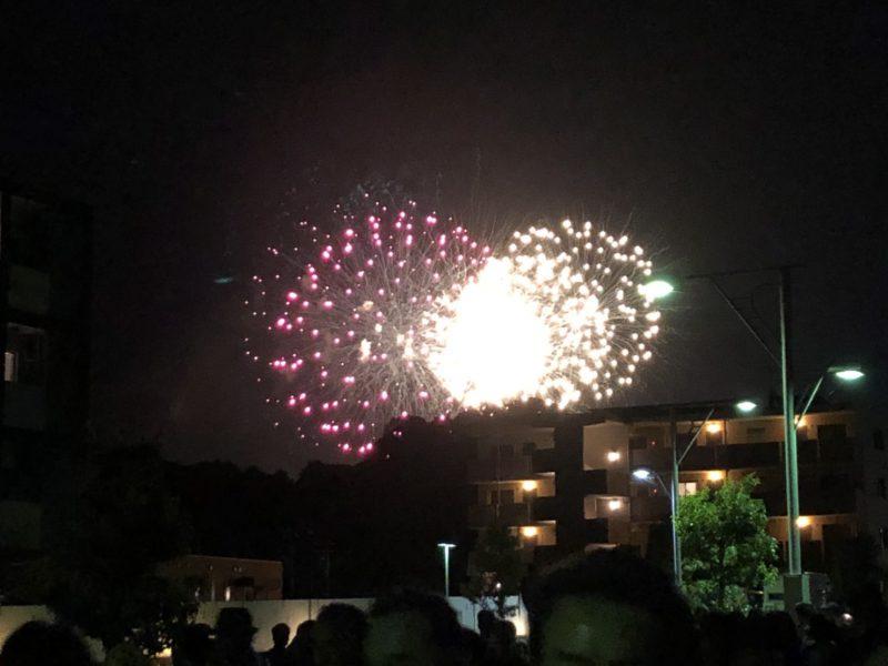 エコパの帰りに見えた花火